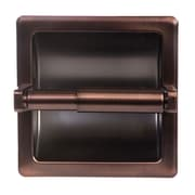 ARISTA Recessed Toilet Paper Holder with Galvanized Mount Plate; Oil Rubbed Bronze