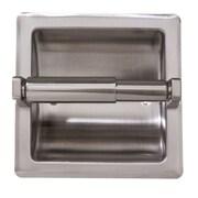 ARISTA Recessed Toilet Paper Holder with Galvanized Mount Plate; Satin Nickel