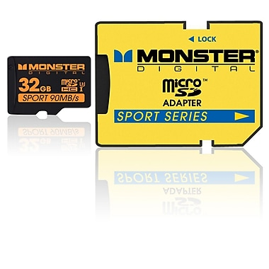 Monster Digital Class 10 Sport Series MicroSD Card, 32GB