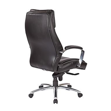 Office Star - Fauteuil de luxe Proline à dossier élevé, cuir Eco, noir