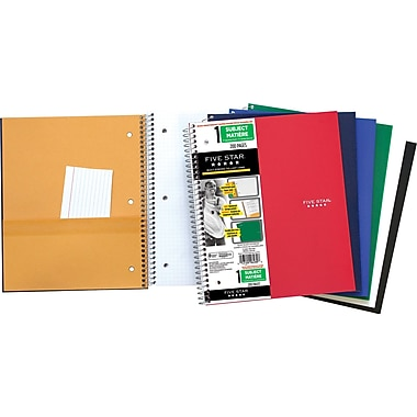 Five Star® Heavyweight Quad Notebook, 8-1/2