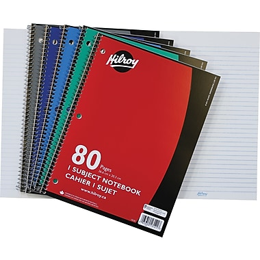 Hilroy 1-Subject Notebook, 10-1/2