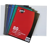 "Hilroy 1-Subject Notebook, 10-1/2"" x 8"", Assorted, 80 Pages"