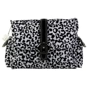 Kalencom Laminated Buckle Diaper Bag; Leopard- Black & White