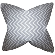 The Pillow Collection Sula Zigzag Cotton Throw Pillow; Gray