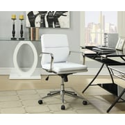 Wildon Home   High-Back Office Chair with Arms; Wihte