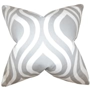 The Pillow Collection Larch Geometric Cotton Throw Pillow; Light Gray