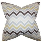 The Pillow Collection Howel Zigzag Cotton Throw Pillow; Gray