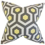 The Pillow Collection Maliah Geometric Cotton Throw Pillow; Gray