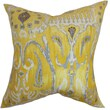 The Pillow Collection Haestingas Ikat Cotton Throw Pillow