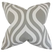 The Pillow Collection Larch Geometric Cotton Throw Pillow; Gray