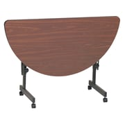 Correll 48-inch Laminate Half-Round Training Table, Walnut