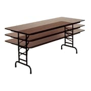 Correll 96-inch Metal, Particle Board & Laminate Rectangular Folding Tables, Walnut