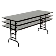 Correll 60-inch Metal, Particle Board & Laminate Folding Table, Gray Granite