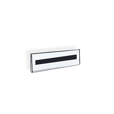 Azar Displays Wall Mount Nameplate Sign Holder with Magnetic Tape, 10/Pack