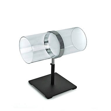Azar Displays Single Adjustable Pole Acrylic & Chrome Headband Counter Display