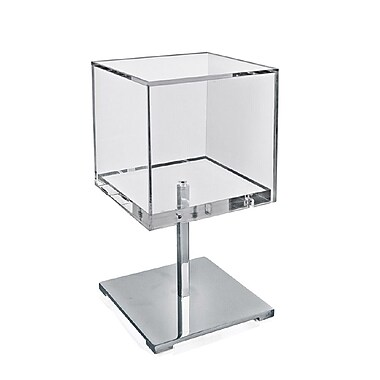 Azar Displays Acrylic & Chrome Counter Cube Display