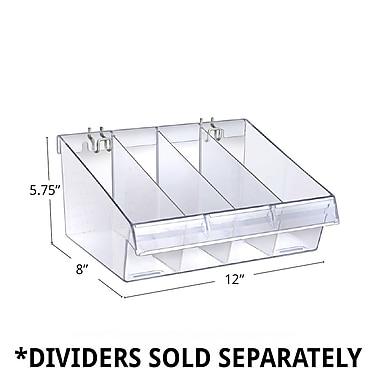 Azar Deep Clear Divider Bin, 8