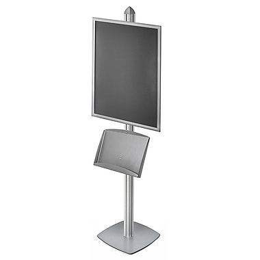 Azar Displays Snap Frame Sky Tower Display with Steel Shelf