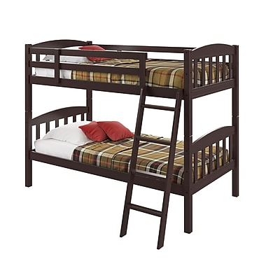 CorLiving BAF-190-B Ashland Twin/Single Bunk Bed, Dark Cappuccino