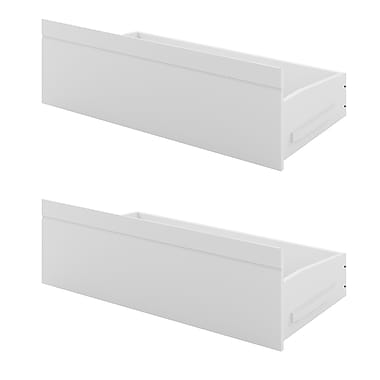 CorLiving BAF-310-A Ashland Bed Storage Drawers, Snow White