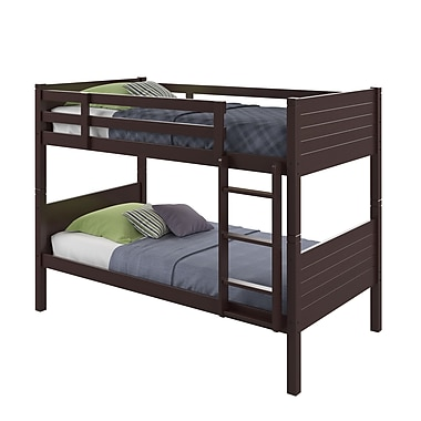 CorLiving – Lit jumeau superposé BAF-390-B de la collection Ashland, cappuccino foncé
