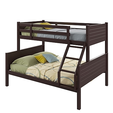 CorLiving BAF-490-B Ashland Twin-over-Full Bunk Bed, Dark Cappuccino