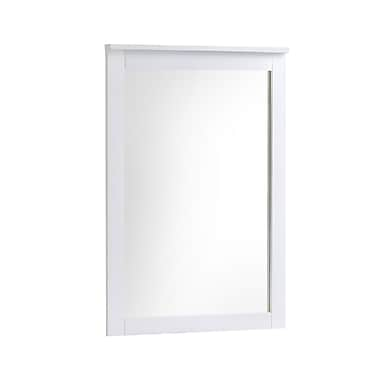 CorLiving BAF-610-M Ashland Dresser Mirror, Snow White