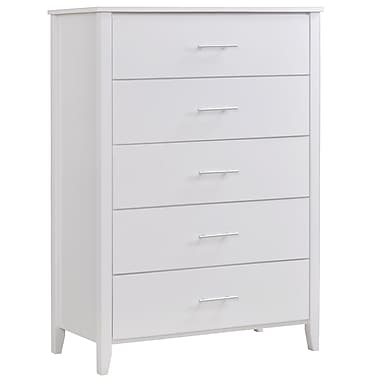 CorLiving BAF-610-T Ashland Chest of Drawers, Snow White