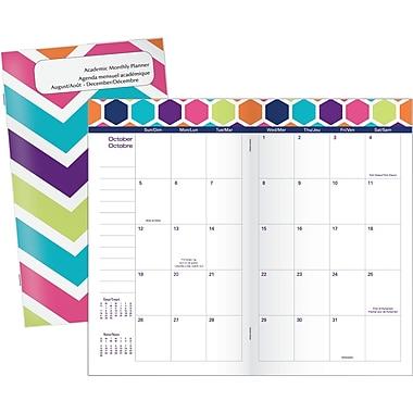 Mead® – Agenda scolaire de poche 2016/2017, 3 5/8 po x 6 1/4 po, motifs géométriques variés, bilingue
