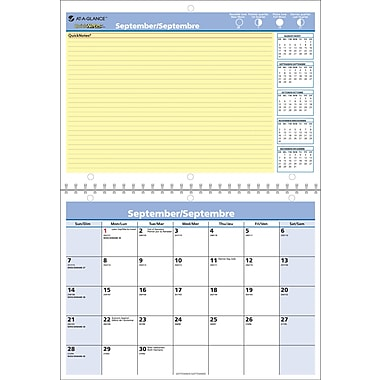 At-A-Glance® QuickNotes 2016/2017 Recycled Monthly Wall Calendar, 11