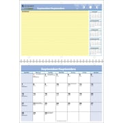 """At-A-Glance® QuickNotes 2016/2017  Recycled Monthly Wall Calendar, 11"""" x 8"""", Bilingual"""