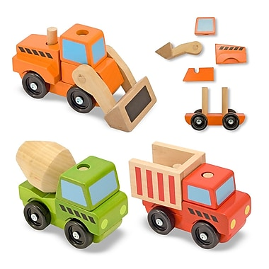 Melissa & Doug Stacking Construction Vehicles