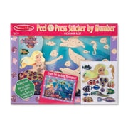 Melissa & Doug Mermaid Reef Peel & Press Sticker 12 x 15.5 inch