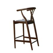 "Boraam 29"" Wishbone Solid Rubberwood Counter Stool, Cappuccino"