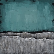 Empire Art Direct ''Teal Atmosphere'' Textured by Martin Edwards Original Painting