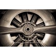 Empire Art Direct ''Vintage Plane Prop'' Photographic Print Plaque