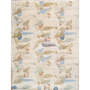 Pasargad Modern Contemporary Transitional Hand-Knotted Silk and Wool Beige Area Rug