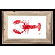FishAye Trading Company 'Red Lobster' by JFD Framed Painting Print