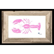 FishAye Trading Company 'Pink Lobster' by JFD Framed Painting Print