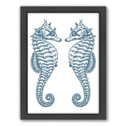 Americanflat Double Seahorse Ocean Framed Graphic Art