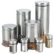 Cook N Home 8 Piece Stainless Steel Canister and Spice Jar Set
