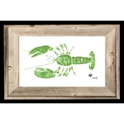 FishAye Trading Company 'Green Lobster' by JFD Framed Painting Print