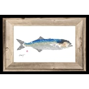 FishAye Trading Company 'Bluefish' by JFD Framed Painting Print