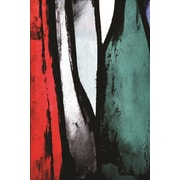 Empire Art Direct ''Intersection Abstract'' Frameless Free Floating Tempered Glass Panel raphic Art