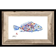 FishAye Trading Company 'Rainbow Fish' by JFD Framed Painting Print