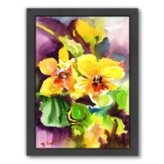 Americanflat Yellow Orchids Framed Painting Print