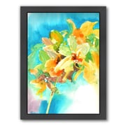 Americanflat Yellow Orchid Framed Painting Print