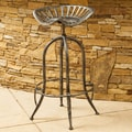 Home Loft Concept Lexie Adjustable Height Bar Stool; Brushed Silver