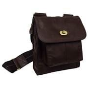 AmeriLeather Gorgeous Leather Antony Messenger Bag; Dark Brown